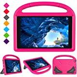 Case for F i r e H D 10 Tablet (5th Gen, 2015 Release / 7th Gen, 2017 Release) ,Kids Friendly Shock Proof Light Weight Convertible Handle Stand Case Cover for F i r e H D 10.1 Inch Tablet (Pink)