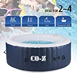 CO-Z 4-Person Inflatable Hot Tub Spa, 6x6ft Above