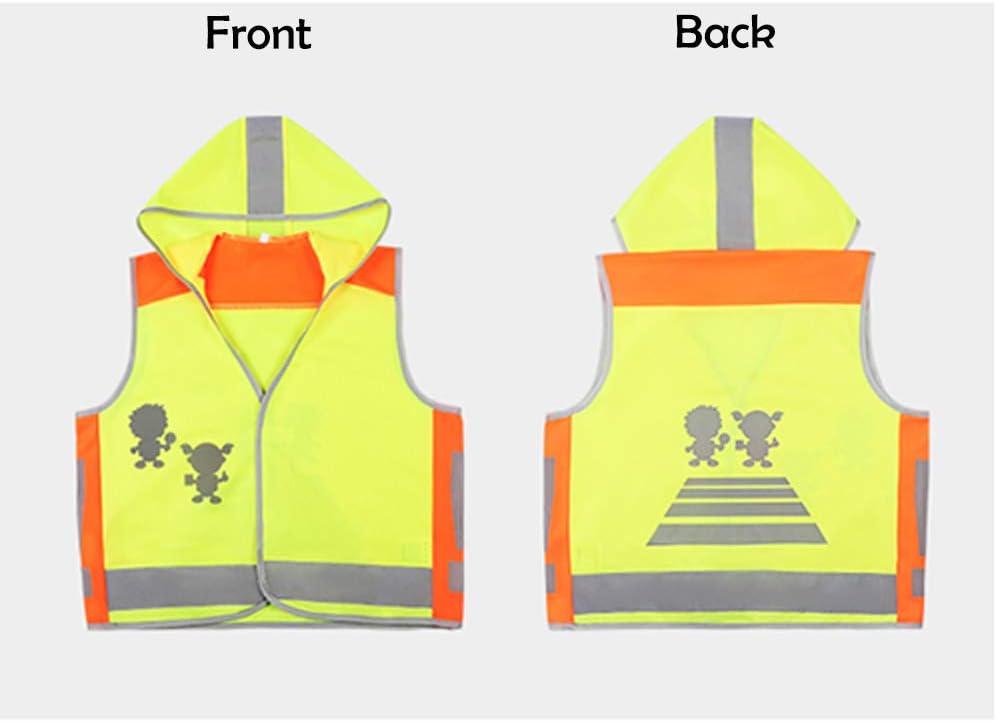 HYCOPROT Warnwesten Kinder Sicherheitsweste Baby Hohe Reflektierende Kleinkind Arbeitskleidung Sichtbarkeit Weste Jacke 4 Band Gurte 0-3 Jahre alt S, Gelb 1