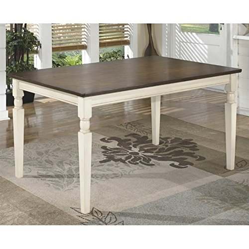 Ashley Furniture Signature Design - Whitesburg Dining Room Table - Rectangular - Vintage Casual - Brown/Cottage White