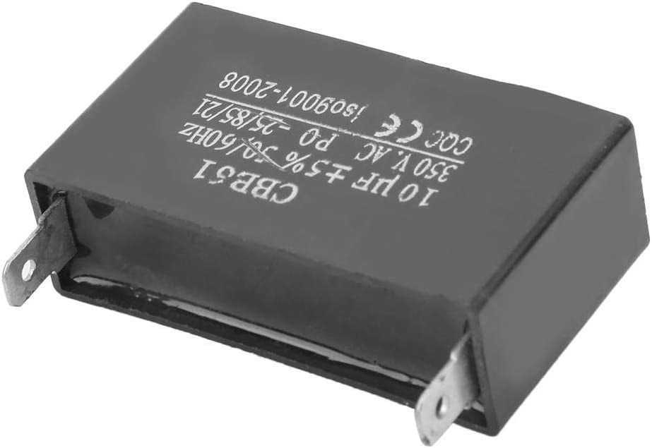 CBB61 Capacitor 2 Pins Fan Motor Starting Capacitor Plastic Shell 350VAC 10UF/±5/% 50//60Hz