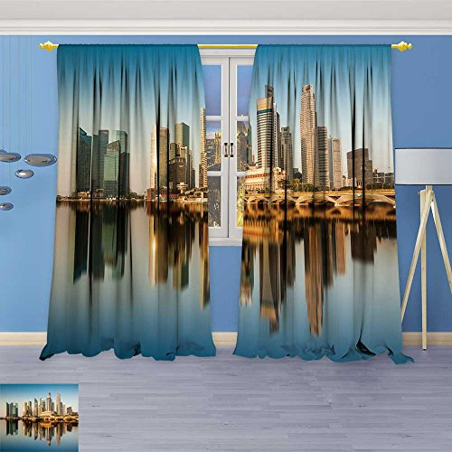 5325 Chocolate - SOCOMIMI 5325 Panel Set Digital Printed Window Curtains sapore August Reflection of sapore cbd on August in sapore Central for Bedroom Living Room Dining Room 108W x 84L inch