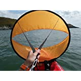 BaiFM Downwind Paddle Kayak Wind Sail Kit 46 inches Kayak Canoe Accessories, Compact, Portable, Easy Setup & Deploys Quickly Orange