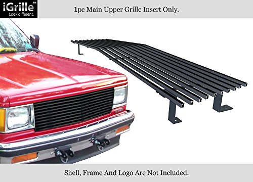 (APS Fits 1982-1990 Chevy S-10/Blazer/S-15/Jimmy Upper Stainless Black Billet Grille 8x6 Wide #N19-J40058C)