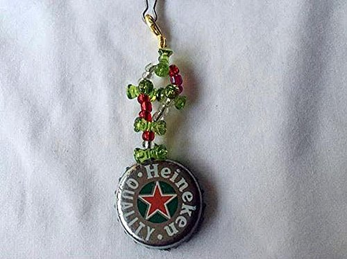 heineken-green-silver-red-star-and-olive-green-tribead-upcycled-bottlecap-keychain-charm