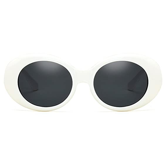 Juleya Retro UV400 Mujeres Hombres Oval Gafas de sol Clout Goggles jHJzrMU