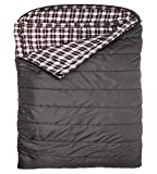 TETON Sports Fahrenheit Mammoth +20F Queen Size Sleeping Bag Perfect for Base Camp while Camping, Backpacking, and Hiking; Grey