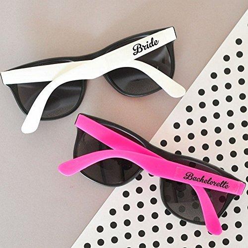 Hot pink and white bachelorette party sunglasses (set of - Las Sunglasses Vegas