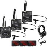 Tascam DR-10L Portable Digital Studio Recorder w/Lavaliere Microphone 3-Pack 96GB Audio Bundle