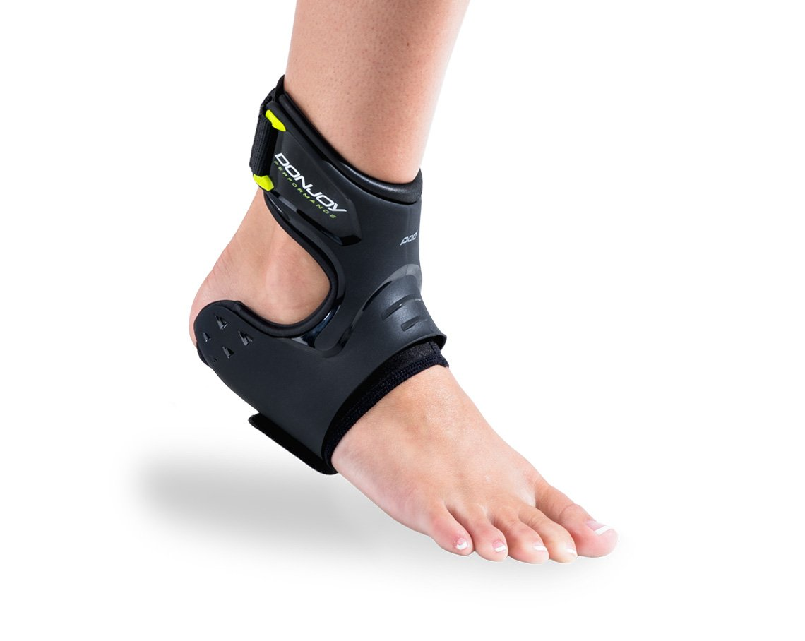 DonJoy Performance POD Ankle Brace, Best Support for Stability, Ankle Sprain, Roll, Strains for Football, Soccer, Basketball, Lacrosse, Volleyball -Medium- Right - Black