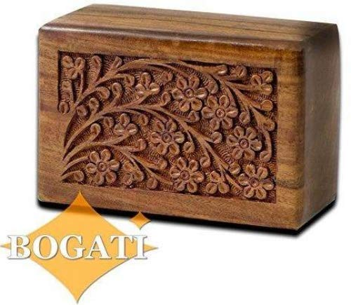 Urn Pet Box - Tree of Life Hand-Carved Rosewood Urn Box - Small