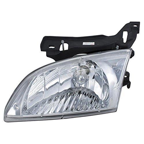 Bulb Cavalier Chevrolet Headlight - Discount Starter and Alternator Replacement GM2502202 Driver Side Headlight for Chevrolet Cavalier Plastic Lens with Bulbs