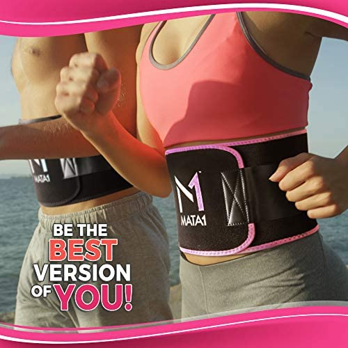 Mata1 Waist Trimmer Belt with a Free Bag Included, Thin Body Sweat Wrap, Weight Loss Enhancing Belt for Men and for Women, Excellent Back Support Promoting Posture Improvement 6
