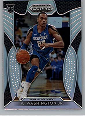 2019-20 Prizm Draft Picks Silver Prizm Refractor Basketball #77 PJ Washington Jr. Kentucky Wildcats Official NCAA Trading Card From Panini America