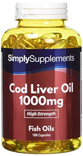 Cod Liver Oil 1000mg | Rich in Omega 3 Fatty Acids | 180+180 (360) Capsules...