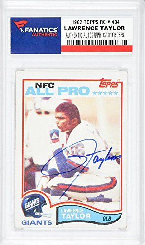 Taylor Lawrence Football Autographed - Lawrence Taylor New York Giants Autographed 1982 Topps #434 Rookie Card - Fanatics Authentic Certified