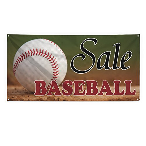 Sale Baseball Outdoor Fence Sign Vinyl Windproof Mesh Banner With Grommets - 5ftx10ft, 10 ()