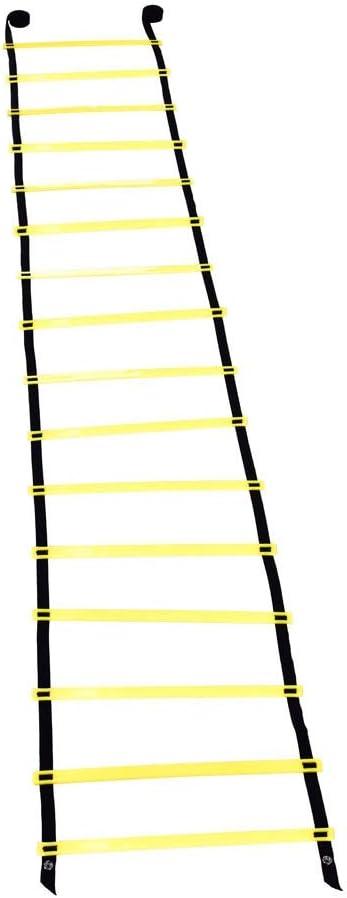 SANON Escalera de Entrenamiento de Fútbol ??Pelota de Fútbol de 8 M Flexibilidad de Fútbol ??Entrenamiento de Velocidad Escalera de Salto de Fitness (Amarillo): Amazon.es: Deportes y aire libre