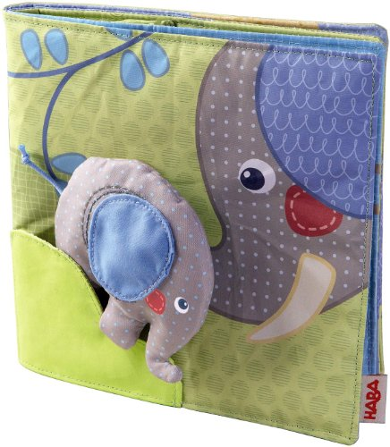 HABA Elephant Egon Fabric Book Baby Toy