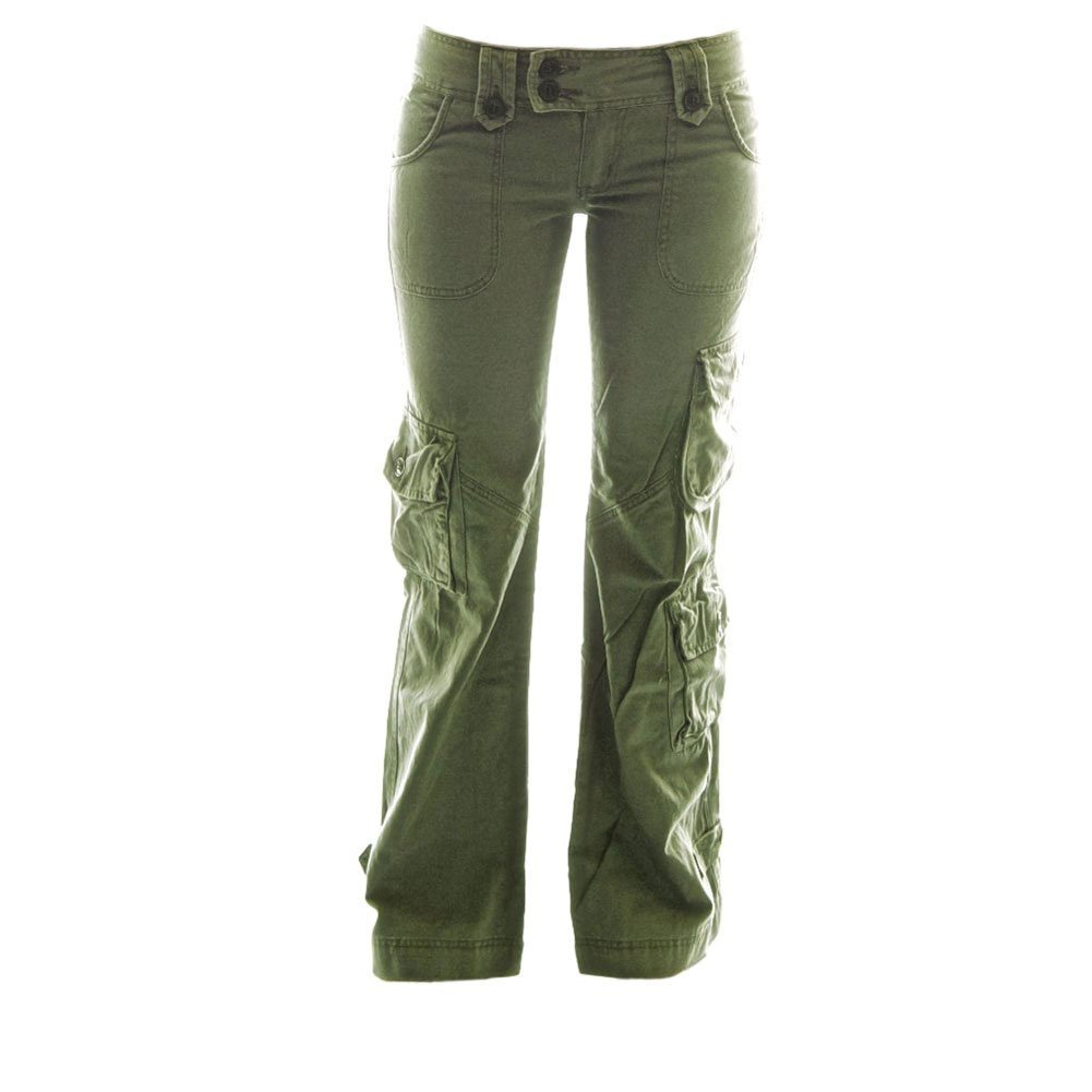 Molecule Himalayan Hipsters Women's Cargo Pants - 100% Cotton Ladies Combats | USA 6/S (Tag L) Field Green