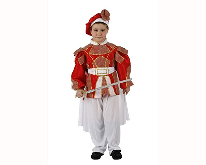 Disfraz DE PRÍNCIPE para NIÑOS Talla DE 7 A 9 AÑOS: Amazon.es ...