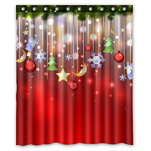 ZHANZZK Merry Christmas Xmas Tree Snowflake Shower Curtain 66x 72 -