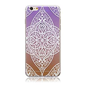 ABC? Vintage Floral Pattern Carved Soft TPU Case Cover for iphone 5c (Colorful)