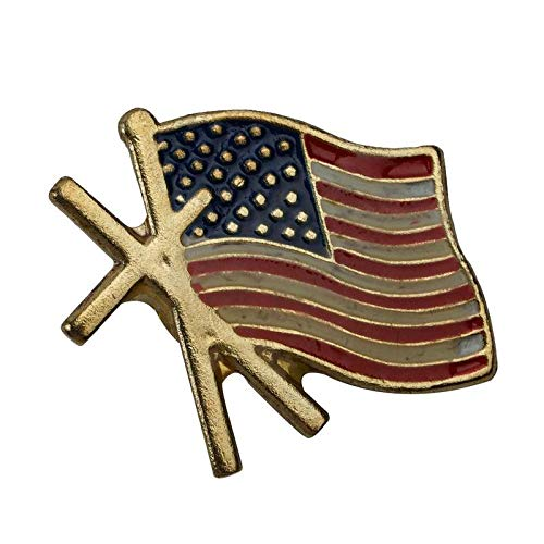 STAR-FIVE-STORE - Small American Flag Metal Commemorative Medallion With Magnetic Buckle Commemorative Badges For Collection Friend Gift JNB7824
