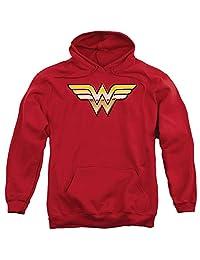 Wonder Woman Justice League JLA Golden Logo DC Comics Superhero Adult Hoodie