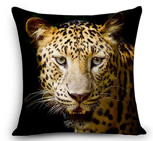 - Animal Cheetah Leopard Throw Pillow Cover Cushion Case Cotton Linen Material Decorative 18