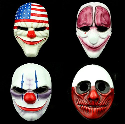 2015 - 1pc Party Costume Mask Mascaras Halloween Ghoul Mask Realistic Silicone Masks Scary Resin Payday (Realistic Halloween Masks)