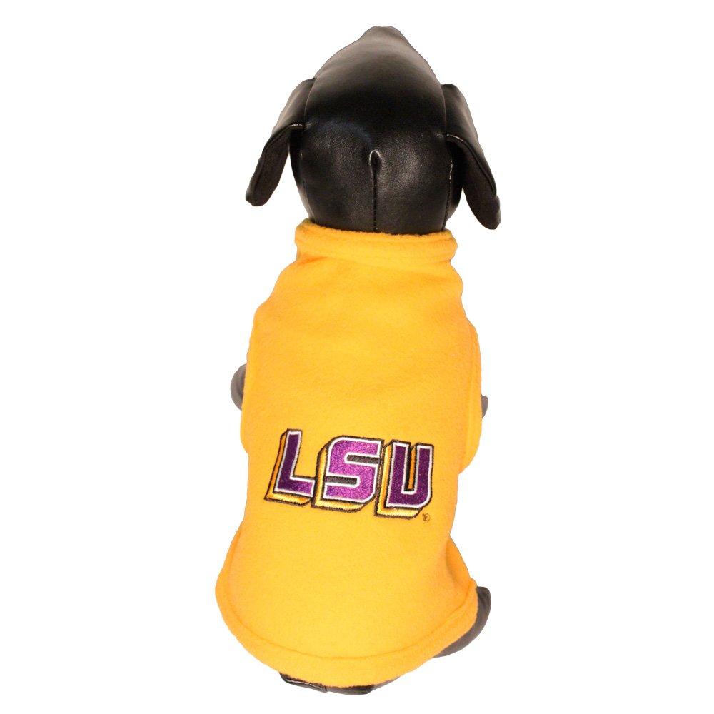 All Star Dogs NCAA Louisiana State Fightin Tigers Polar Fleece Dog Sweatshirt, Medium