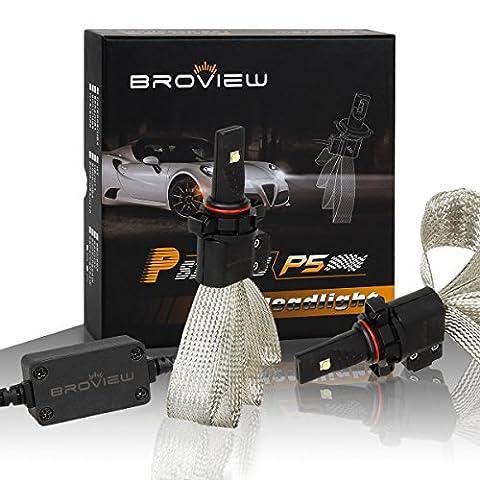 BROVIEW P5 9005 HB3 2-Cree-XML2 6500K White 5000LM High beam Headlight- (2pcs/set)