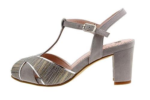 68728e76e2 Zapato Cómodo Mujer Sandalia Tacón 1258 PieSanto  Amazon.es  Zapatos y  complementos