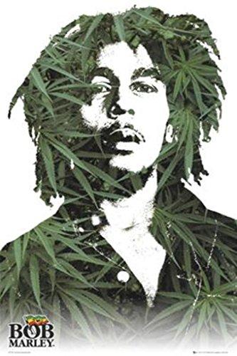 - Bob Marley Marijuana Ganja Leaves Pot Poster Poster Print, 24x36 Poster Print, 24x36
