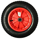 14' RED SACK TRUCK TROLLEY RUBBER REPLACEMENT WHEEL BARROW TYRE STEEL