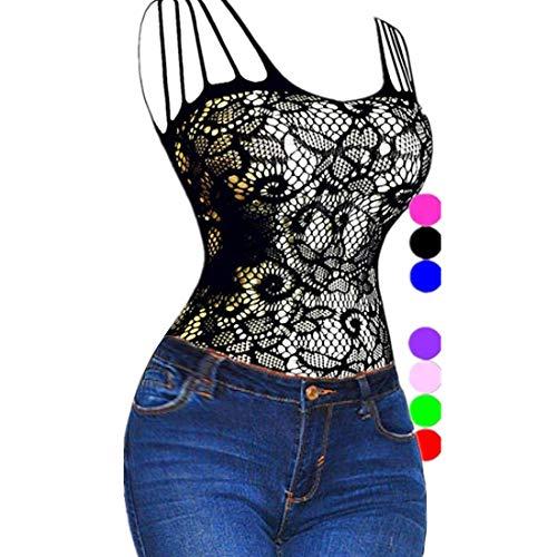 Romantic Lace Bodystocking (Daisland Women Lingerie Sleepwear Bodystocking Bodysuit Babydoll Chemise Teddy (Medium, Black 0018))