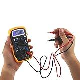 Dreamyth Digital Voltmeter Ammeter Ohmmeter Multimeter Volt AC DC Tester Meter Affordable (Yellow)