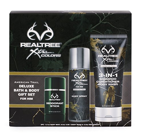 Realtree American Trail Body Gift Set, Men