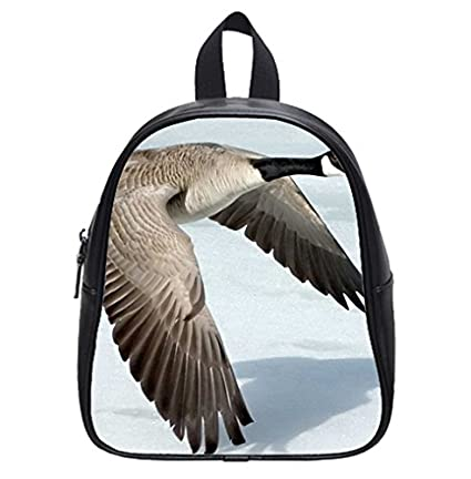 Canada Goose flying animal Backpack Kids School Bag: Amazon ...