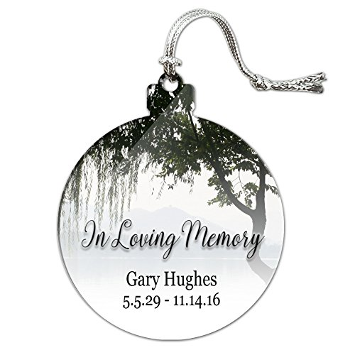Graphics and More Personalized Custom in Loving Memory Willow Tree Memorial Acrylic Christmas Tree Holiday Ornament (Memory Ornaments Christmas Loving)