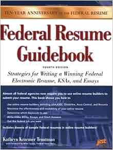 federal resume guidebook strategies for writing a winning
