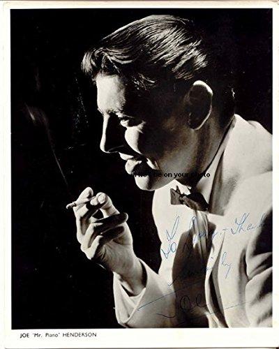 Henderson Autographs (Joe Henderson Mr Piano Autographed Preprint Signed Photo)