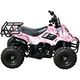 110cc Four Wheelers 6'' Tires Atvs, BURGUNDY