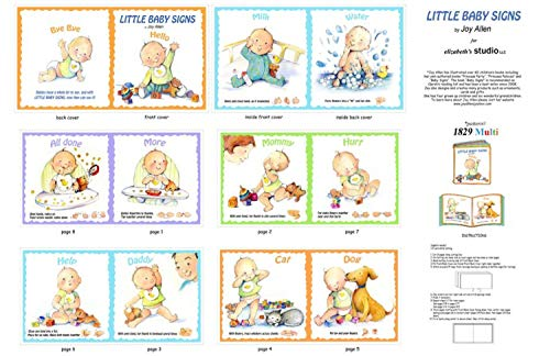 """Little Baby Signs Book Panel ~ 36 x 44"""" Cotton Fabric for sale  Delivered anywhere in USA"""