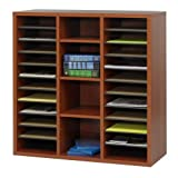 Safco Apres Modular Storage Literature Bookcase Organizer Cherry For Sale