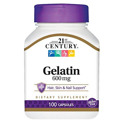 21st Century Gelatin 600mg, 100 Capsules (Century 21st Vitamins)