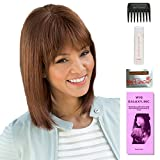 Tatum by Amore, Wig Galaxy Hair Loss Booklet, 2oz Travel Size Wig Shampoo, Wig Cap, & Wide Tooth Comb (Bundle - 5 Items), Color Chosen: Expresso