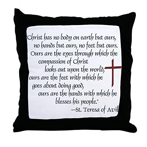 CafePress St. Teresa of Avila Quote Decor Throw Pillow (18