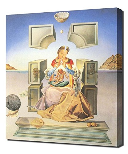 Salvador Dali The Madonna Of Port Lligat I Framed Canvas Art Print Reproduction